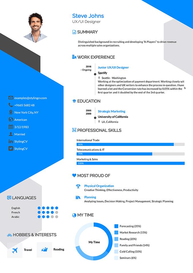Arrow Resume Template